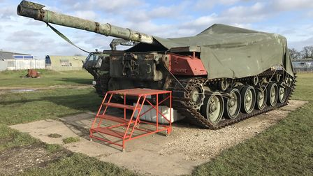 The 1960s Chieftain tank which is being restored at Raydon Airfield Picture: Neil Didsbury