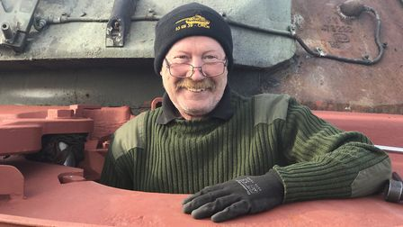 Brian Munro, a former tank engineer says the camaraderie among the restoration volunteers is special