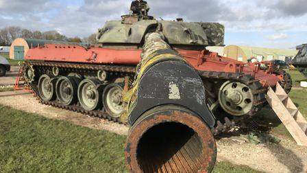 The 1960s Chieftain tank near Ipswich which will be restored over the next two years Picture: NEIL D