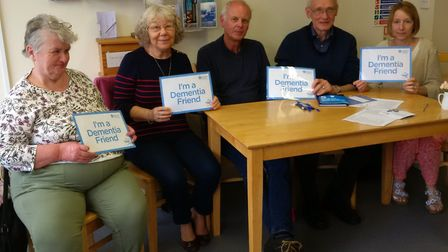 Volunteers at the Taste Cafe have launched a memory cafe for patients with dementia. Sara Pells, far