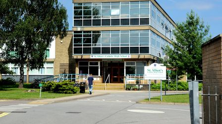 St Alban's Catholic High School has sent a warning letter out to parents Picture: SIMON PARKER