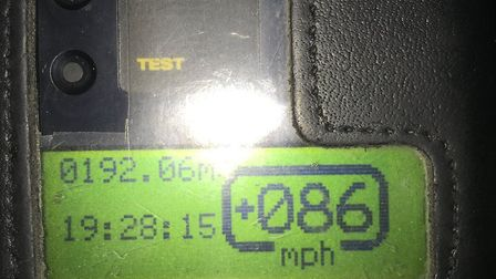 The driver was stopped for speeding in a 50mph zone in Coddenham. Picture: NORFOLK AND SUFFOLK ROADS