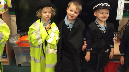 The children got to see all the different clothes police in Ipswich and Suffolk need in their jobs P