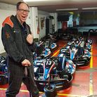 Leslie, who has a brain injury, does a work placement at Anglia Karting