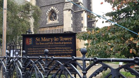 St Mary le Tower is located in the heart of Ipswich, and is where King John's charter was delivered