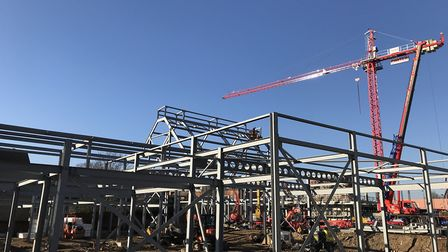 The Hold is taking shape on the University of Suffolk campus. Picture; RG CARTER