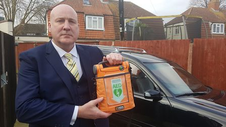 The defibrillator cost the Ipswich funeral home over a thousand pounds. Picture: ARCHANT