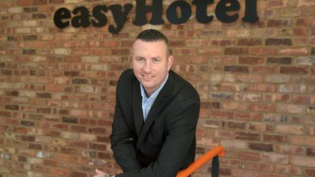 Group operations director Iain Goswell at the new easyHotel in Ipswich Picture: SARAH LUCY BROWN