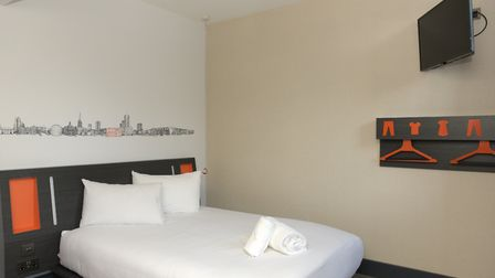 Inside of the rooms at the new easyHotel in Ipswich Picture: SARAH LUCY BROWN