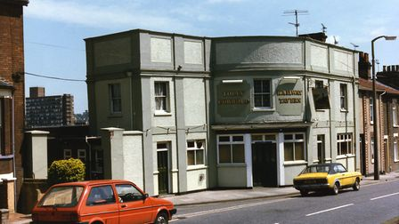 The Railway Tavern, Burrell Road, Ipswich, closed in June 1987. It was demolished and flats now stan