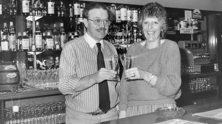 Ron and Angie Topple at the Queen's Head, Ipswich, in 1983 Picture: TONY RAY