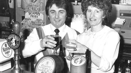 Jim and Stephanie Crossley were at the Racecourse, Nacton Road, Ipswich, in the 1980s. Picture: IVA