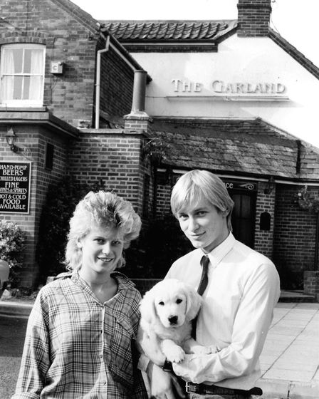 When this photograph was taken at the Garland on the corner of Humberdoucy Lane and Rushmere Road, I