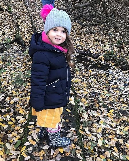 Daisy Mowles, five, suffered a serious allergic reaction to a meal at Center Parcs Elveden and requi