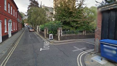 Oak Lane in Ipswich has been closed for public safety Picture: GOOGLEMAPS