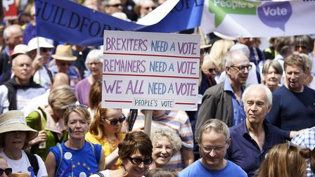 100,000 people demonstrated in London calling for a second vote on Britain's departure from the Euro