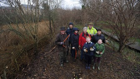 River work party by Ipswich Wildlife Group and River Action Group along the Alderman Canal and River