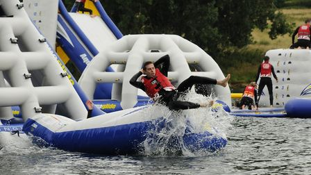 The inflatable Aqua Park is the biggest in the UK Picture: AQUA PARKS GROUP