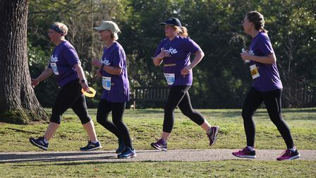 Competitors in the Resolution Run in aid of the Stroke Association at Ipswich's Christchurch Park. P