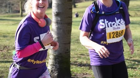 Competitors enjoying the Resolution Run in aid of the Stroke Association at Ipswich's Christchurch P
