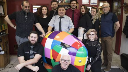 Francesco and the team were visited by Elmer after they announced they would be sponsoring a sculptu