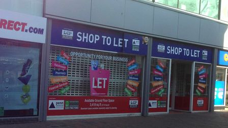 One of the shops in Carr Street, Ipswich, with signs suggesting possible new uses. Picture: ARCHANT