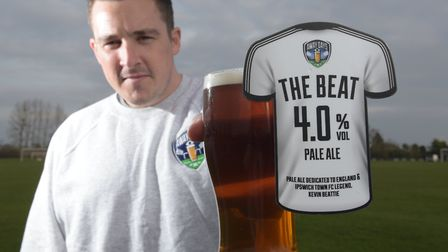 Josh Bartlett, owner of Away Day Beers, has created an ale in memory of Kevin Beattie called The Bea