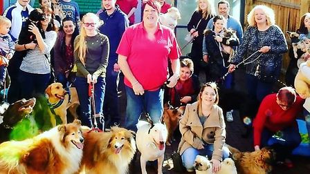 First birthday party at Ipswich Canine Creche on the Farthing Road Industrial Estate. Picture: IPSW