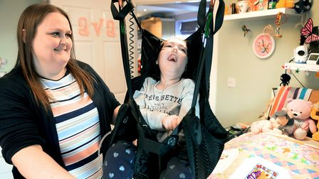 Ipswich Hospital'�s Children'�s Appeal has been running for a year. Pictured is cerebral palsy suffe