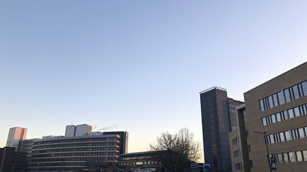 It's nothing but clear skies over Ipswich this morning - with hot weather due for the next two days