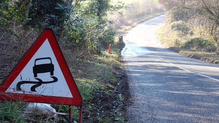 Traffic warning signs are in place and temporary repairs are expected to take up to eight weeks, acc