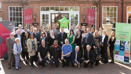 Sponsors of the Anglia Business Exhibition 2019 gather at The MUTHU Belstead Brook Hotel Picture: K