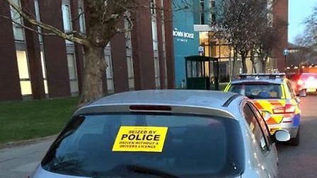 The car was pulled over by police after they found thet it did not have an MOT. Picture: NSRAPT