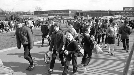 Pupils at Stoke High School, Ipswich, in March 1982. Do you know anybody featured? Picture: RICHARD