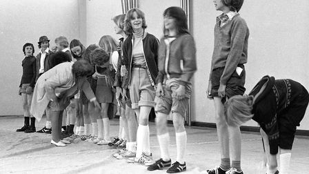 A knobbly knees competition at Stoke High School's open day fair in June 1978 Picture: JERRY TURNER
