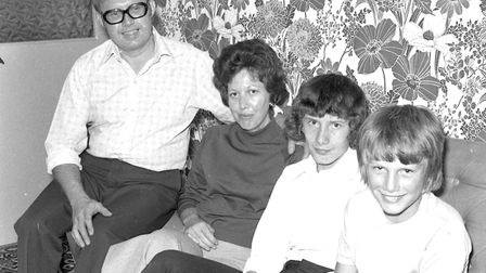 Do you know this family pictured in their Ipswich home in 1976? Picture by Jerry Turner.