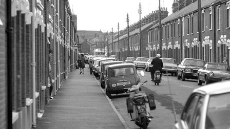 There was plenty of parking for residents and visitors when these photographs were taken in July 197