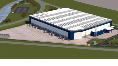 An artist impression of the planned Headlam warehouse in Harris Way, Ipswich Picture: AshtonSmith