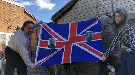 The family are saving a Union Jack, with pictures of Mr Markwell's great great uncle Kenneth, for a