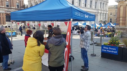 Filming of BBC The One Show on the Cornhill. Picture: RACHEL EDGE