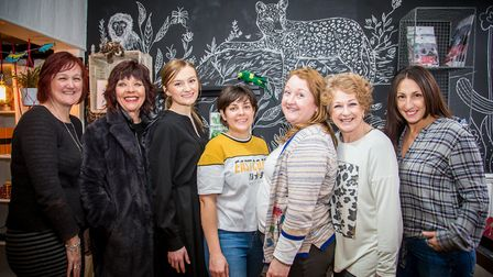 From left, Cathy Frost (LoveOne), Wendy Childs (Maud's Attic), Katie Forsyth (Purity Beauty), Hannah