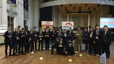 The Royal Hospital School hosted Airgineers, a schools competitive event to build and fly drones. P
