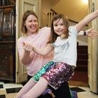 Family yoga at Christchurch Mansion, Ipswich was inspired by the artist Rodin Picture: RACHEL EDGE