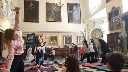 Kids Yoga at Christchurch Mansion in Ipswich. Picture: RACHEL EDGE