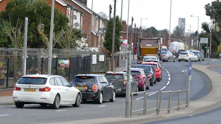 The Orwell Bridge closure caused traffic chaos in Ipswich Picture: PETER CUTTS