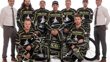 Ipswich Witches 2019: Back row, left to right: Chris Louis (promoter), Richard Lawson, Chris Harris,
