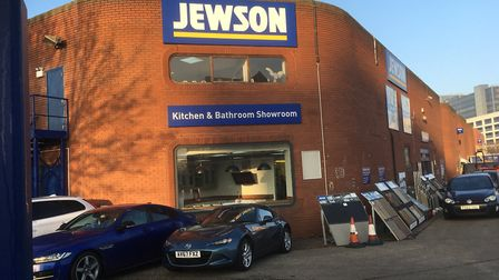 The Jewson builders supplies, kitchen and bathroom centre in Greyfriars Road, Ipswich. Picture: DAV