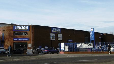 Jewson, building supplies and kitchen and bathroom centre in Greyfriars Road, Ipswich