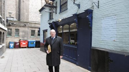 Commercial agent Trevor Harris, who is seeking a tenant for the Golden Lion Hotel, at the Cornhill