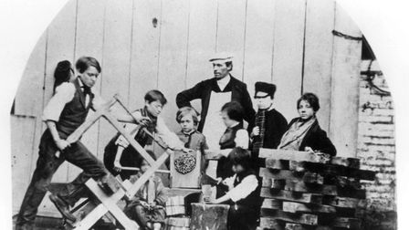 Children were taught to read and write. Lessons were given in carpentry and cutting and chopping fir
